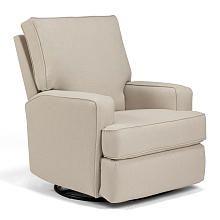 Best Chairs Kersey Swivel Glider Recliner Burlap Baby