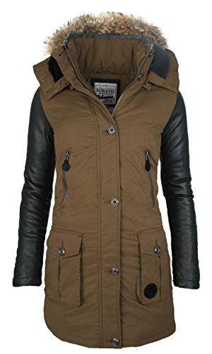 Warmer Designer Winter Mantel Jacke Parka Kunst Leder Ärmel B55 [B55-Braun-Gr.S] Golden Brands Selection http://www.amazon.de/dp/B01A5O8LA6/ref=cm_sw_r_pi_dp_bJ6Nwb1M6PH6Y