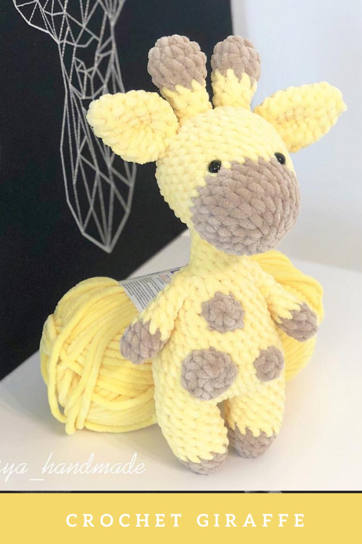Photo of Crochet plush giraffe free pattern
