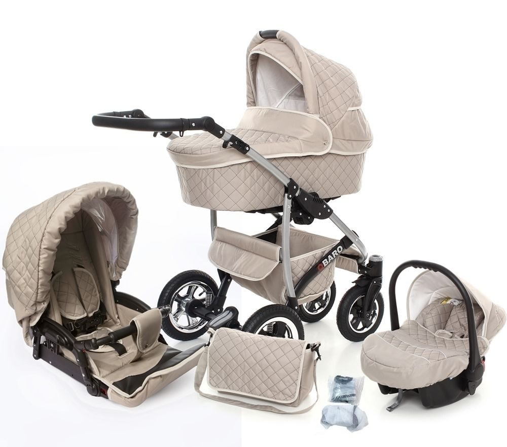 Baby Prams For Sale Uk Baby Pram Pushchair 3in1 Travel System Stroller Swivel