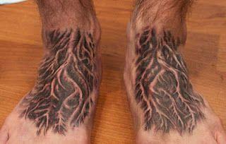 Tree Roots Foot Tattoo Foot Tattoos Foot Tattoo Best Tattoo Shops