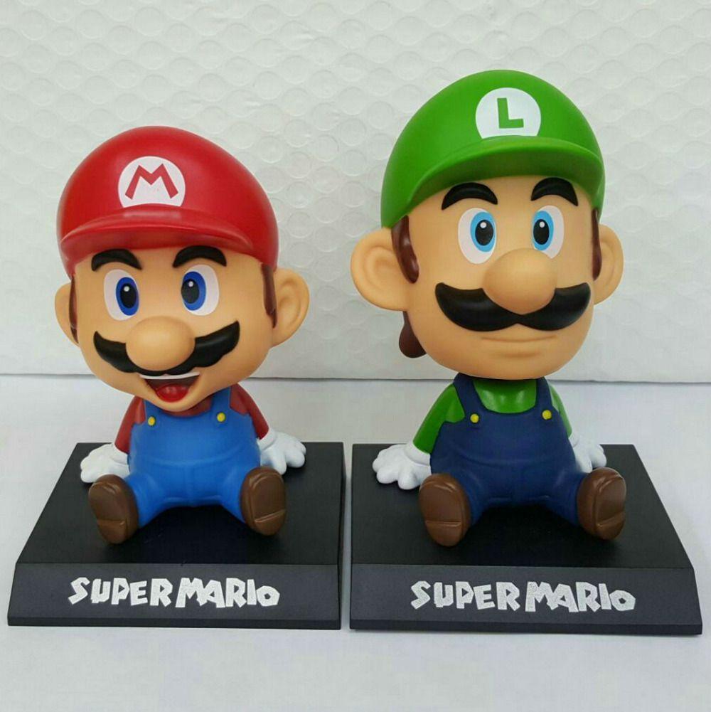 Car decoration toys  New  Styles Super Mario Bros Mario Yoshi Luigi PVC Action Figure