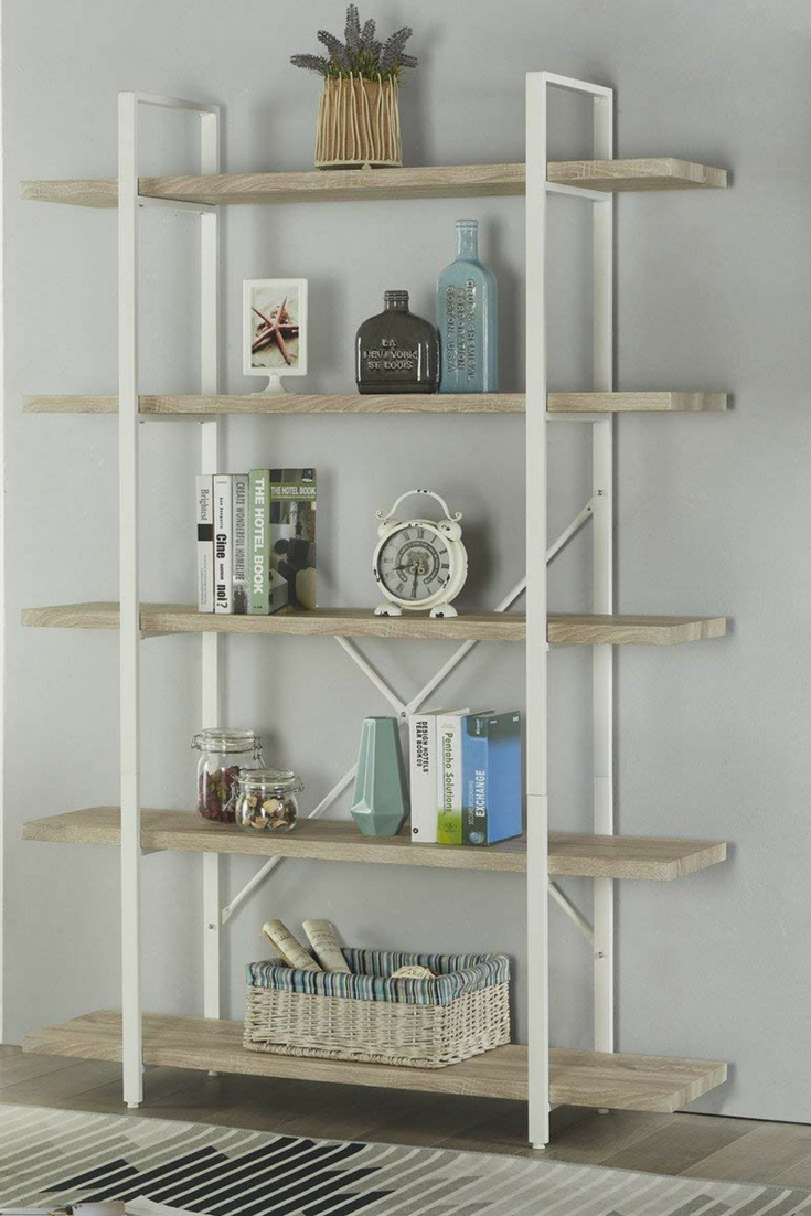 12 Beautiful Book Shelves You Can Afford Modern Shelving Oak Shelves Display Bookcase