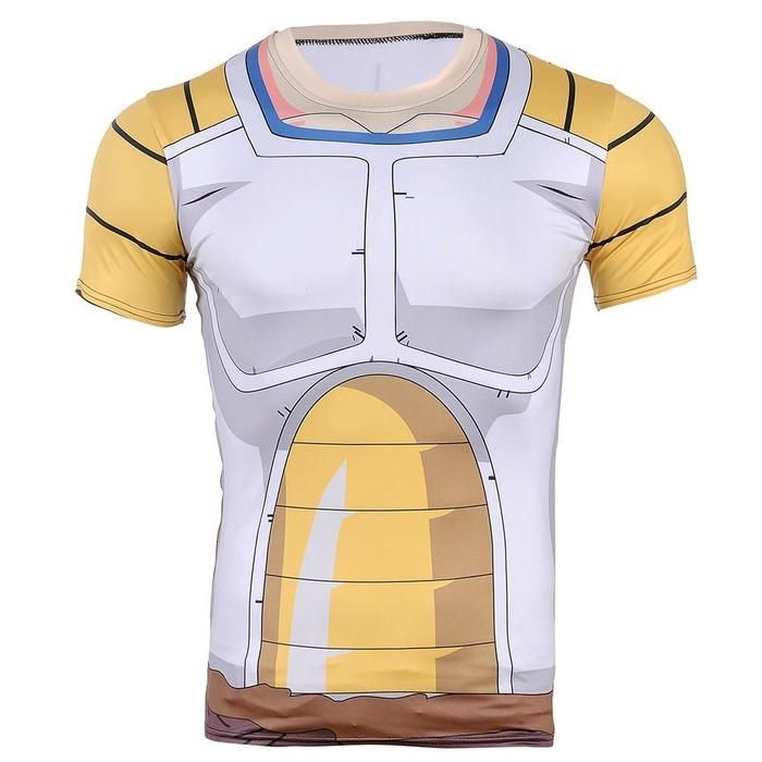 38ebe95d2f060b DBZ Vegeta Saiyan Armor Suit Battle Jacket 3D Fitness T-shirt  dbz   dragonball