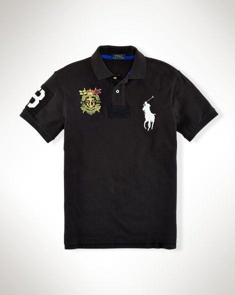 Slim-Fit Big Pony Crest Polo - Polo Ralph Lauren Slim-Fit - RalphLauren