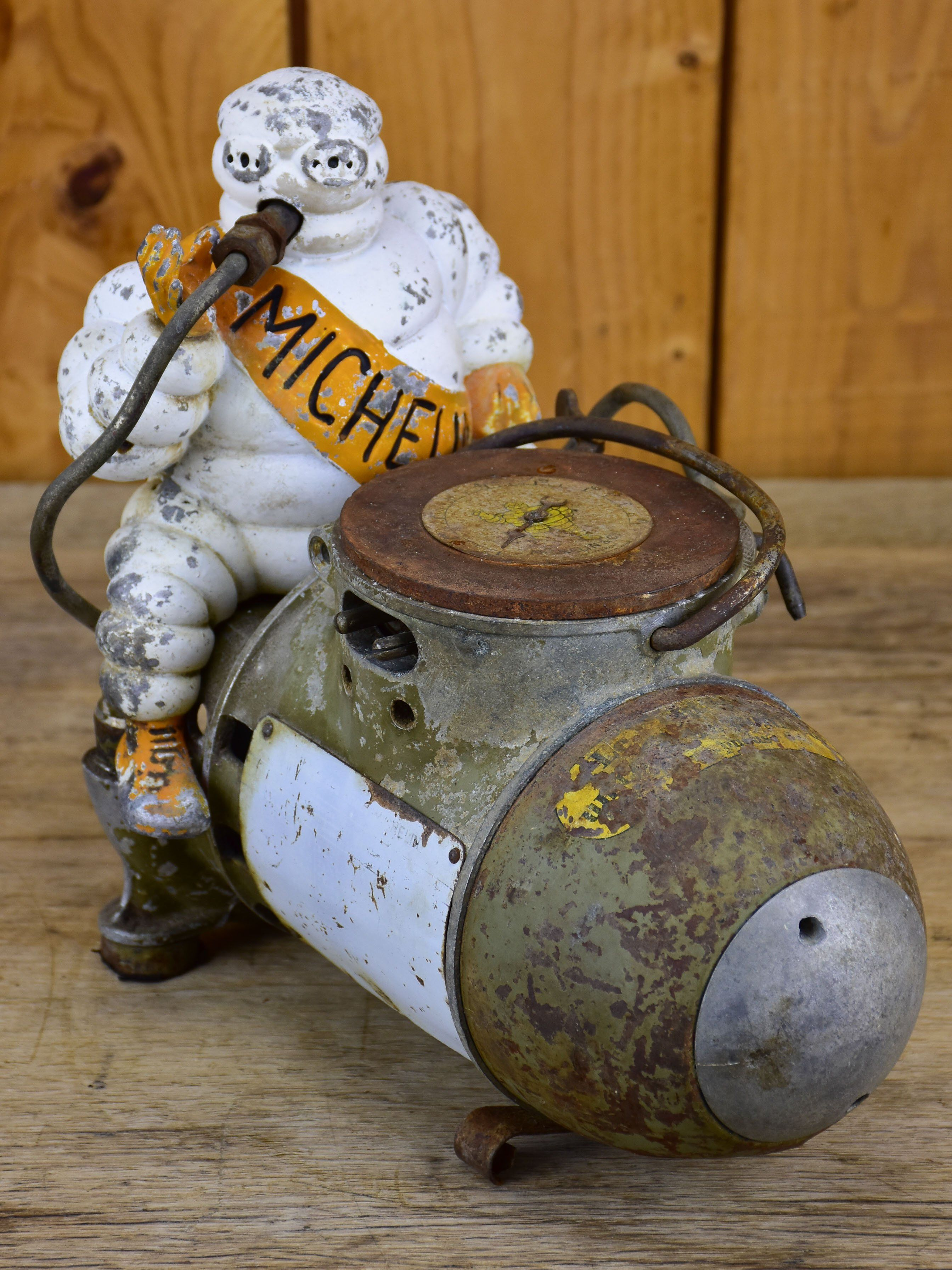 Michelin man air compressor 1930's Air compressor