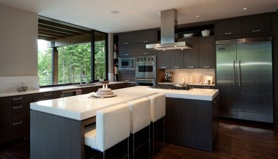 modern house interior design kitchen. luxury house with a modern contemporary interior design kitchen i