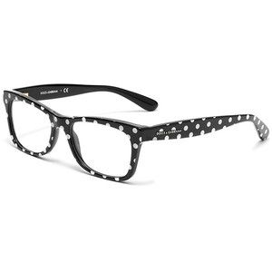 40a92e2139 Women s black and white polka dots acetate glasses with squared frame by  Dolce   Gabbana dg3199