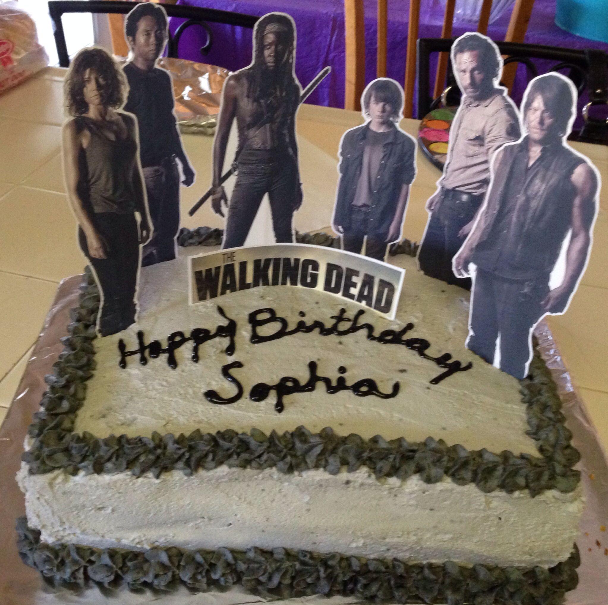 The Walking Dead Cake I Want Even Funnier It Says Sophia Xd
