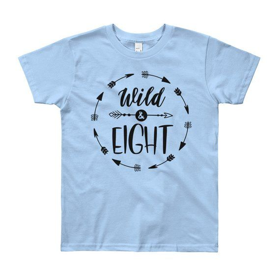 Wild And Eight 8th Birthday Shirt Boy Eighth Outfit Year Old Gift Trendy Party