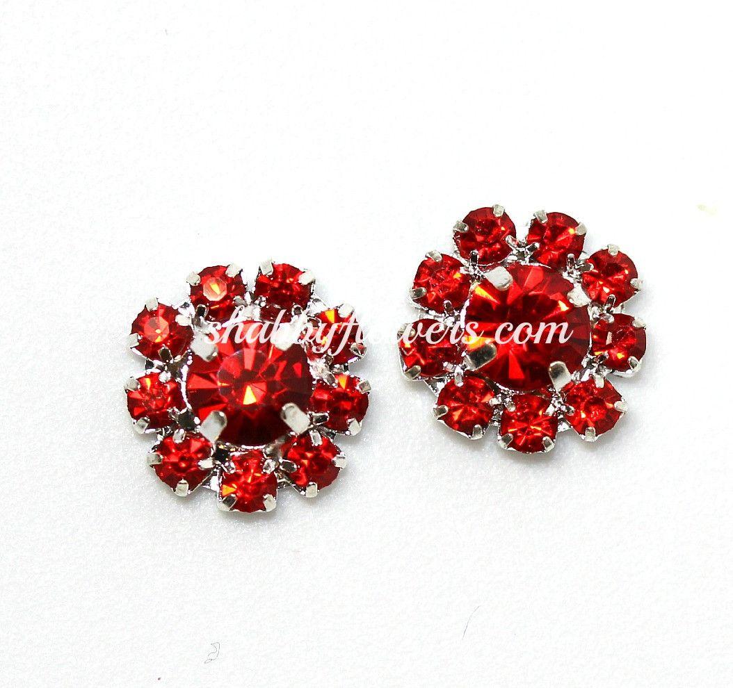 Rhinestone Embellishment - Petite in RED (2 Pack)