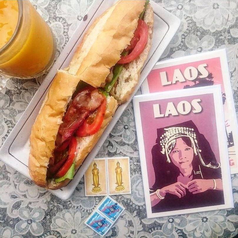 @enroutetoadventure stocks up on travel essentials in Vientiane Laos #agodalens