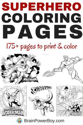Over 175 Free Printable Superhero Coloring Pages Superhero Coloring Pages Superhero Coloring Coloring For Kids