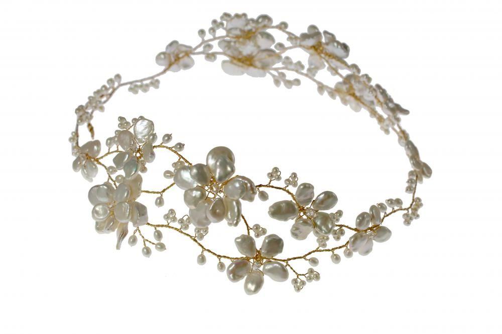 золото волосы цветок гирлянды | свадьба цацки диадема тиара ...