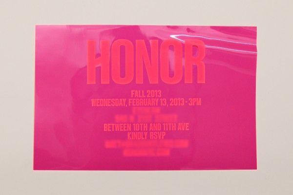 Honor Women's F/W 2013 plastic overlay ro