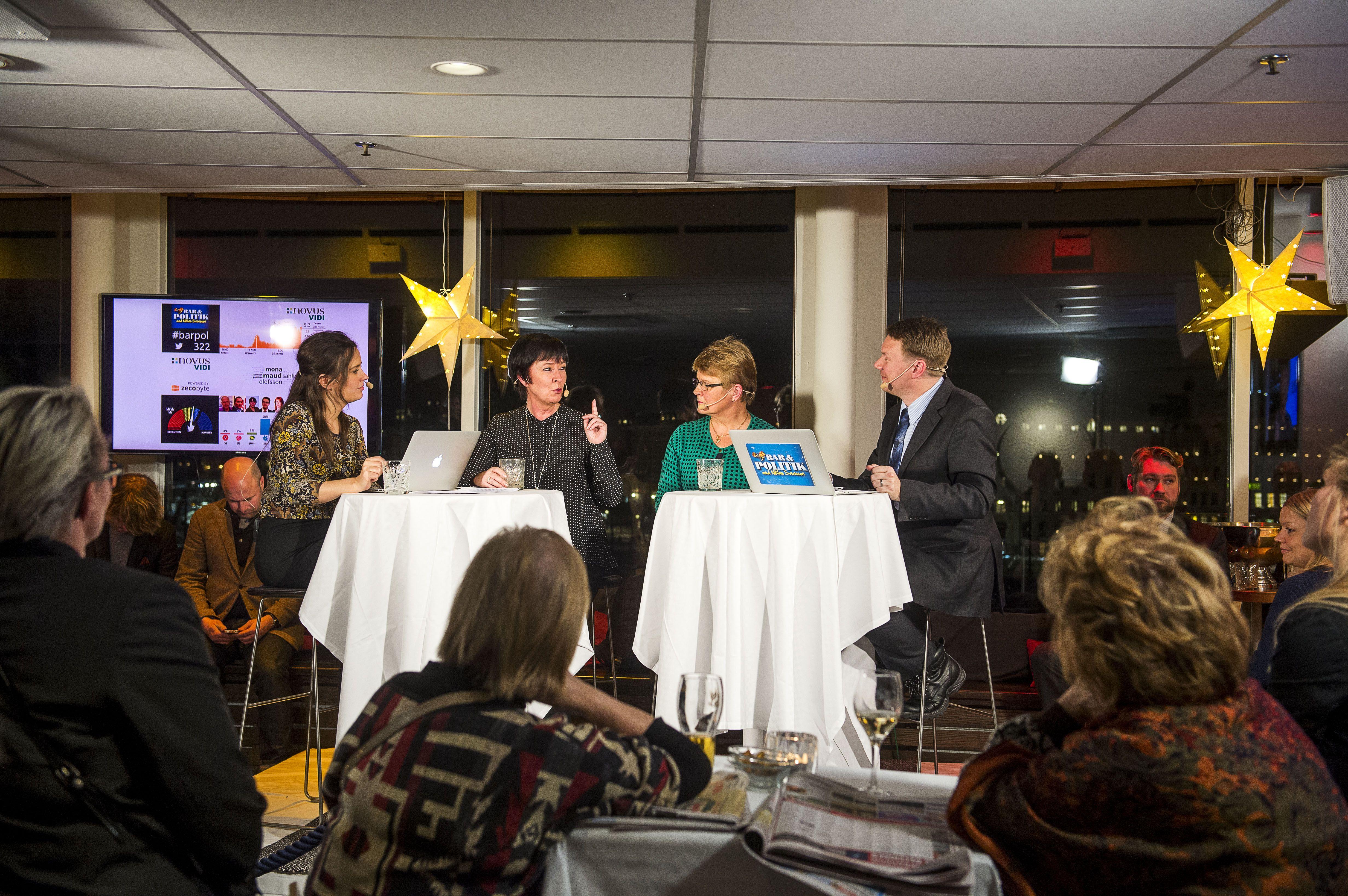 Sahlin och Olofsson gästade programmet - tillsammans.