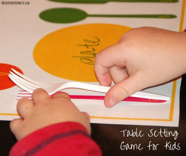 Table Setting Thanksgiving Activity for Kids & Table Setting Thanksgiving Activity for Kids | Thanksgiving ...