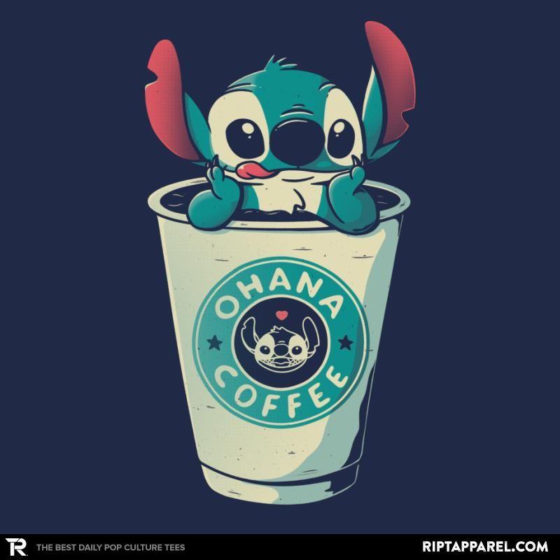 Ohana Coffee Stitch T Shirt By Eduely The Shirt List Cute Disney Wallpaper Cute Disney Drawings Cute Stitch