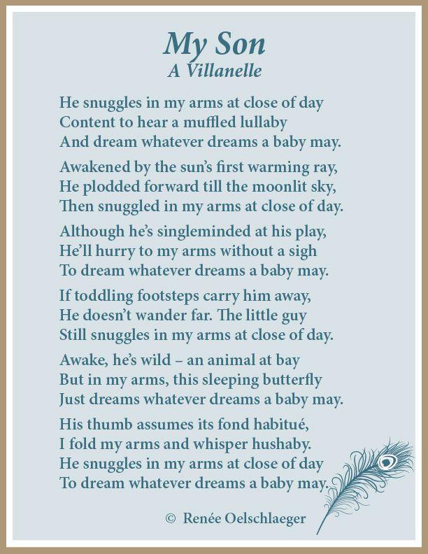 My Son A Villanelle Poems Pinterest Poem