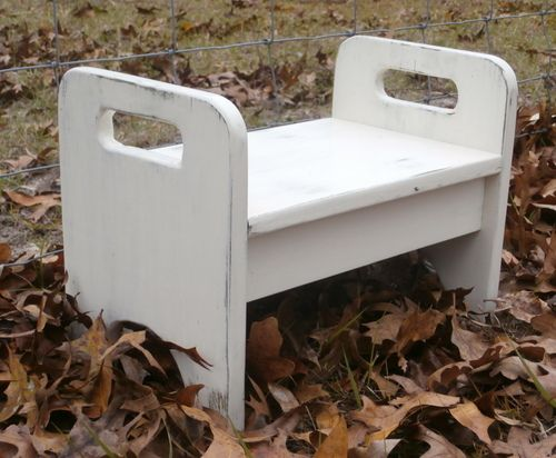 Strange This Kids Step Stool Was Finished With White Milk Paint And Gmtry Best Dining Table And Chair Ideas Images Gmtryco