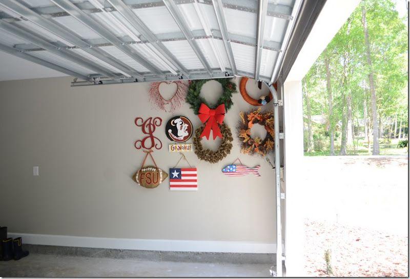 Wreath Storage In The Garage Genius I39ll Add A Trash