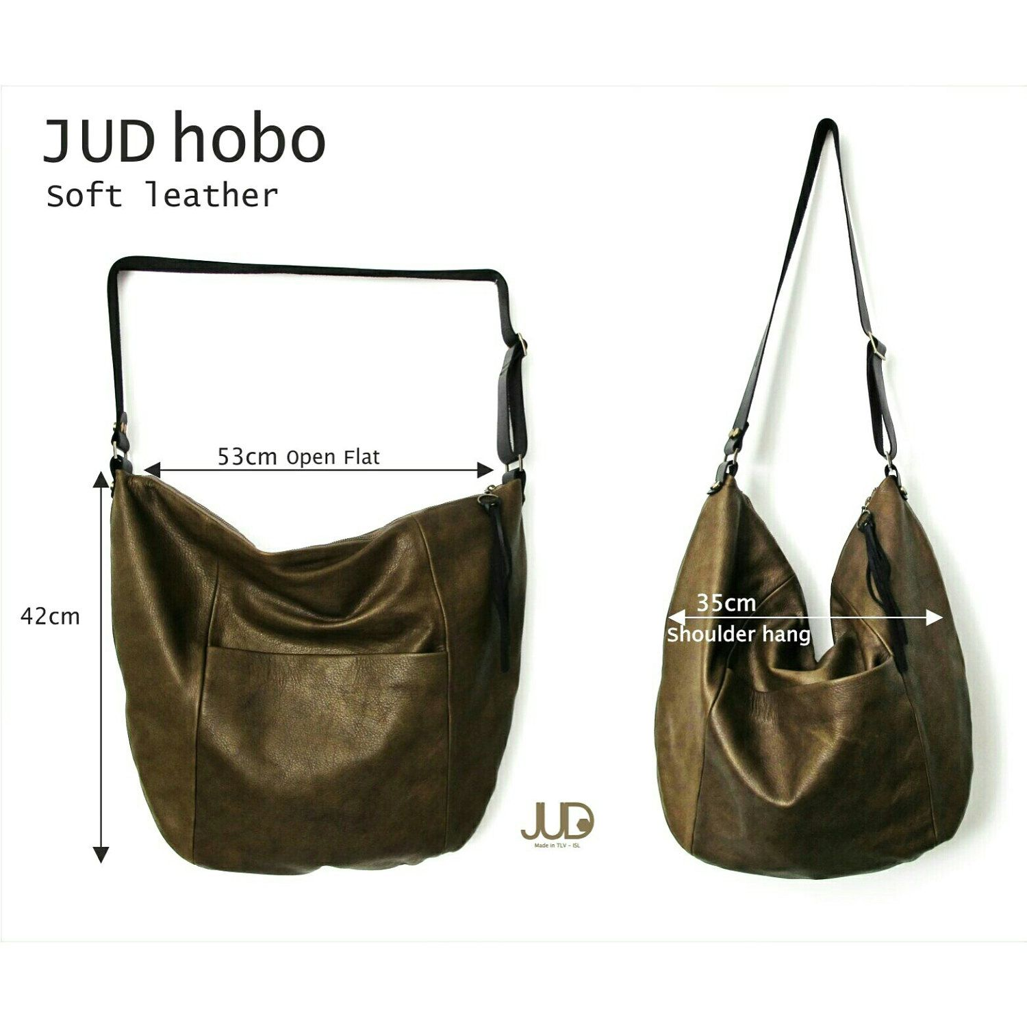 76d64238fd8f Large leather Hobo bag