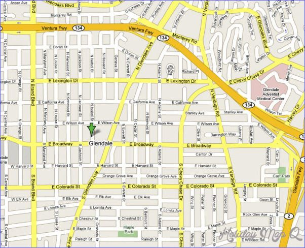 Glendale Map httpholidaymapqcomglendalemaphtml holiday