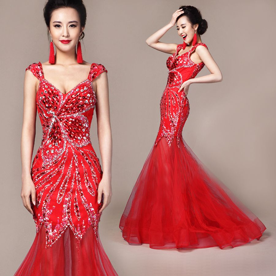 Red Beaded Cocktail Dresses