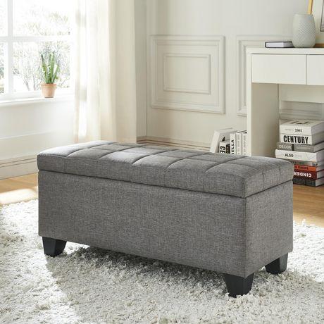 Awesome Worldwide Homefurnishings Inc Fabric Storage Ottoman Grey Spiritservingveterans Wood Chair Design Ideas Spiritservingveteransorg