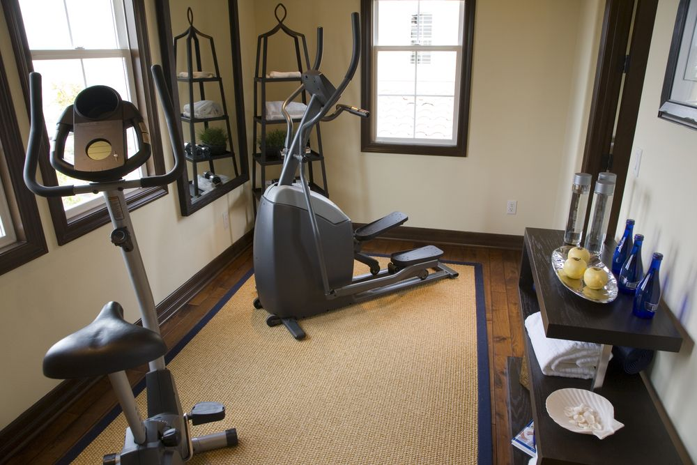 Home gym design ideas for elliptical trainer
