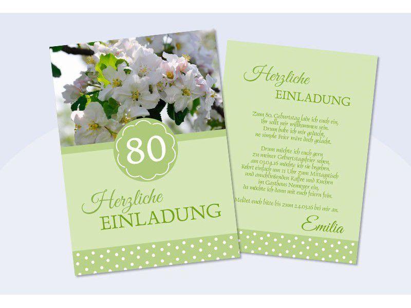 Einladungskarten 80 Geburtstag Mit Bildern Einladung 80