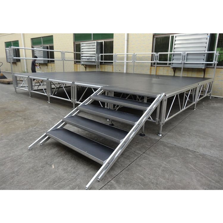 Portable Stage With Guardrail Portable Stage Church Stage