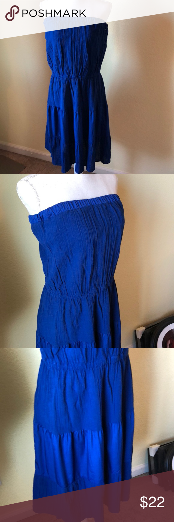 bccaf6b53ae21 Banana Republic strapless dress size medium This listing is for a gently  used item. Banana