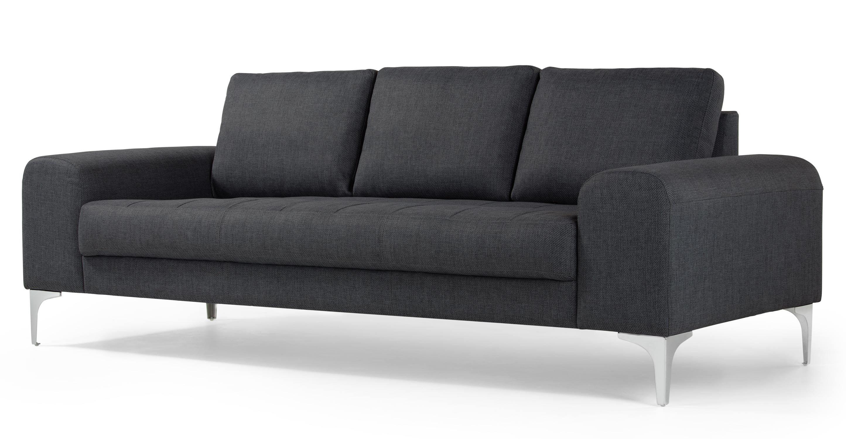 Vittorio 3 Sitzer Sofa Anthrazit Made Com Jetzt Bestellen Unter