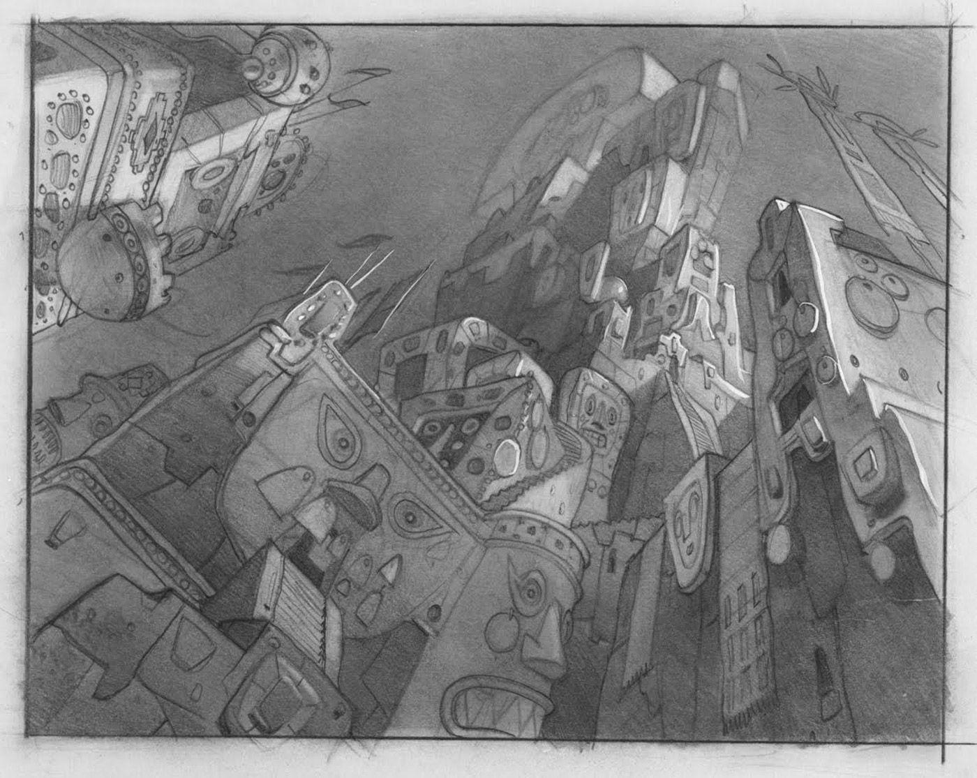 Paul felix the emperor 39 s new groove 2000 backgrounds ambiances dessin projet et urbain - Kuzco dessin anime ...