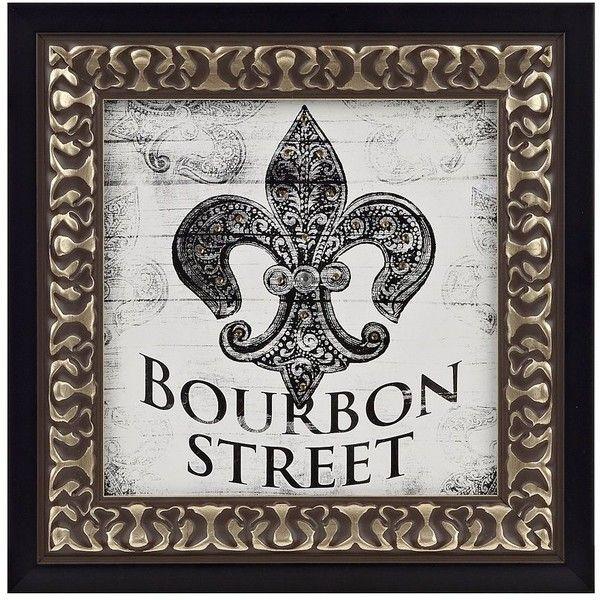 Bourbon Street Fleur-de-Lis Framed Art Print featuring polyvore ...