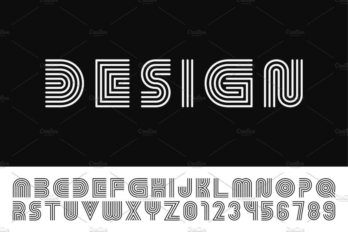 English Vector Striped Alphabet In 2020 Lettering Alphabet Logo Design