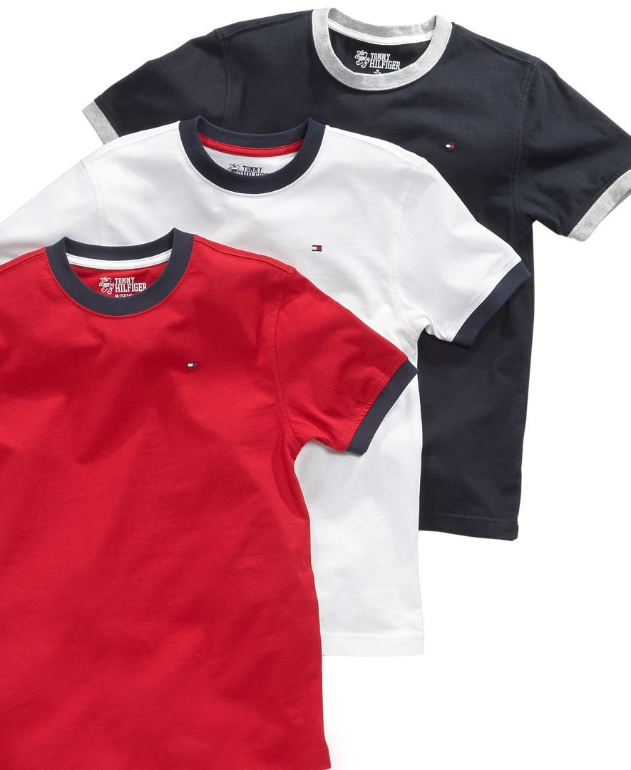 0581f437 He'll love sticking with what works in this comfy t-shirt from Tommy  Hilfiger. | Cotton | Machine washable | Imported | Tommy Hilfiger little  boys' tee ...