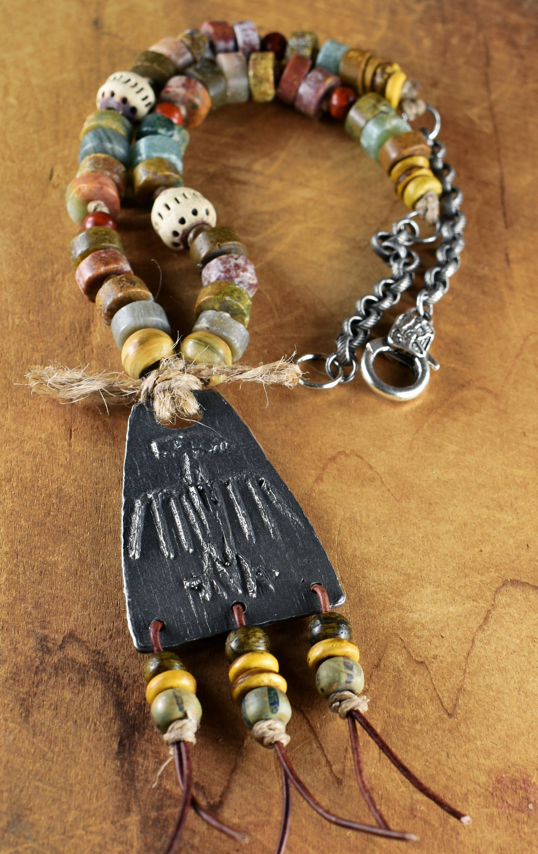 Bird Pendant Copper Bird Necklace Orange Bird Necklace