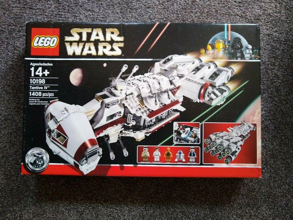 Star Wars Lego 10198 Ucs Tantive Iv Sealed 8017 Vaders Tie Fighter Bonus Lego Star Wars Lego Star Wars Mini Lego War