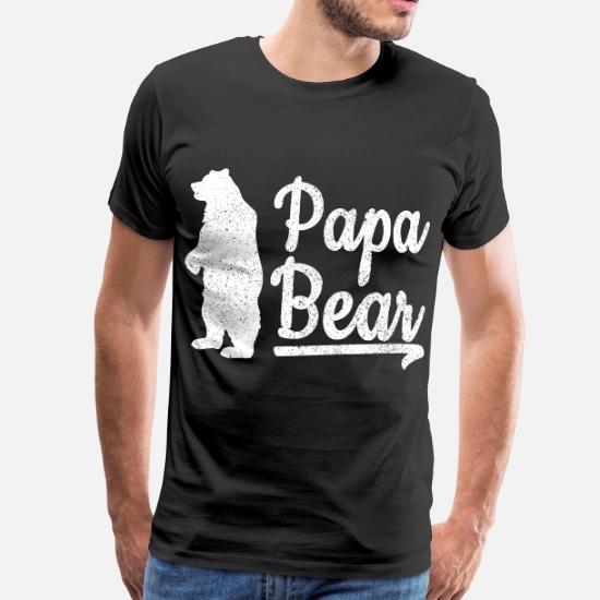 Stolzer Papa Vater Bear Shirt Retro Männer Premium T