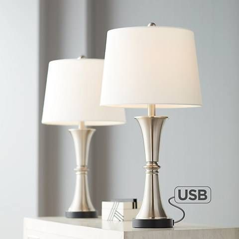 Seymore Touch Table Lamps Usb Ports And Led Bulbs Set Of 2