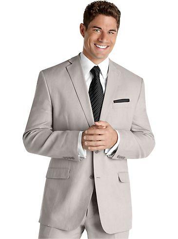 Suits - Calvin Klein Light Gray Linen Suit - Men\'s Wearhouse ...