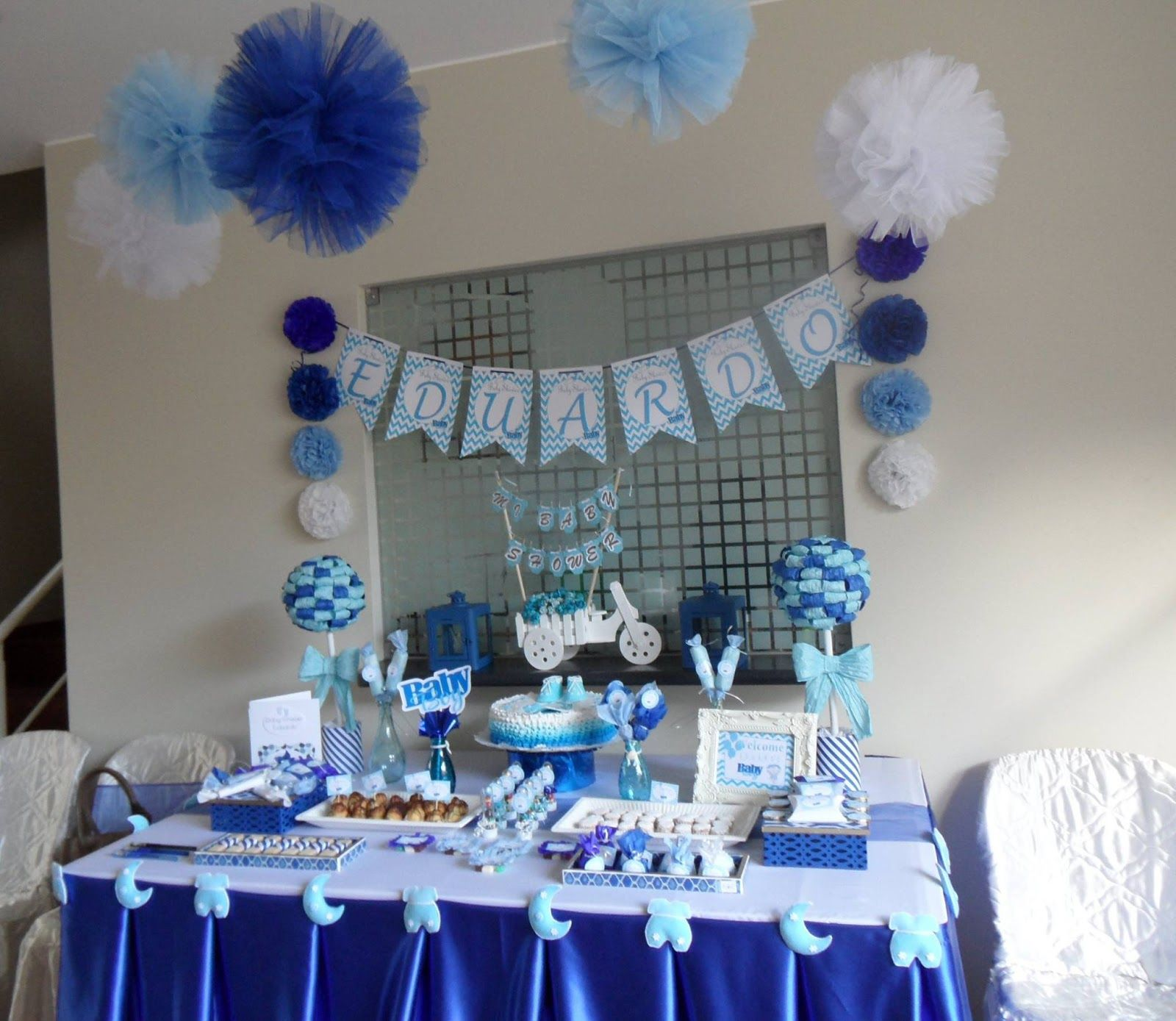 Baby shower ideas decoraci n baby baby shower para - Mesa de baby shower nino ...