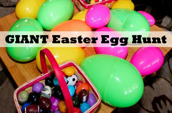 Craftibilities: Fun GIANT Easter Egg Hunt - Surprise the ...