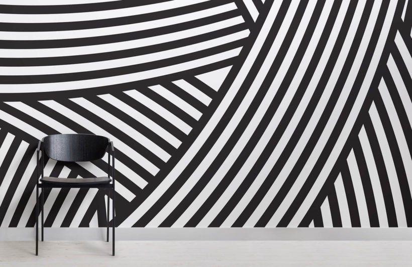 Walmer Layered Black White Wallpaper Mural Murals Wallpaper White Wall Paint Black And White Wallpaper White Wallpaper