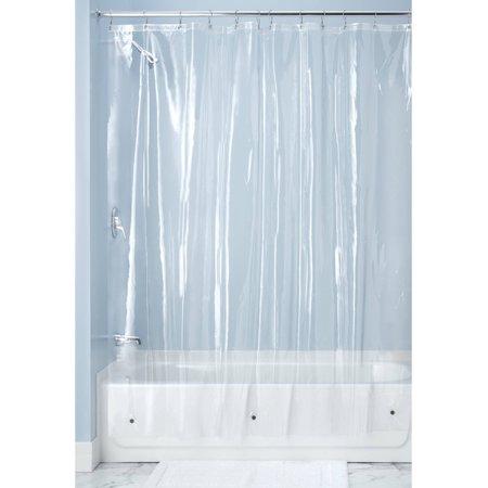 Interdesign 10 Gauge Clear Vinyl Shower Curtain Liner 72 Inch X