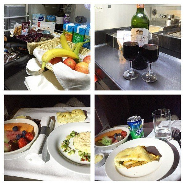 British Airways A380 Business Class Club World Review club kitchen - business review
