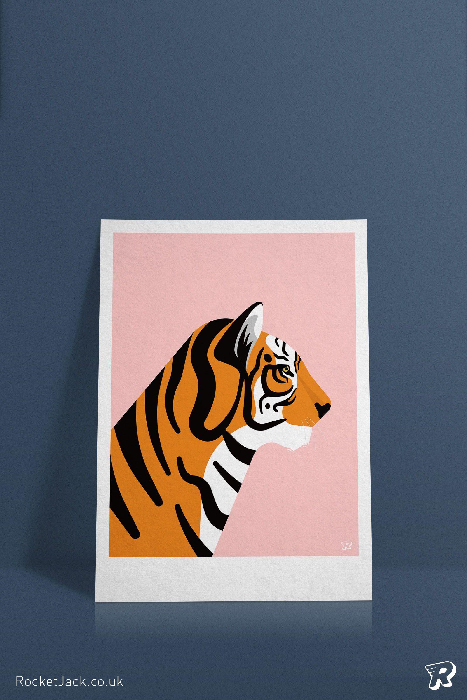 Fantastic Tiger Home Decor Canvas Print choose your size.