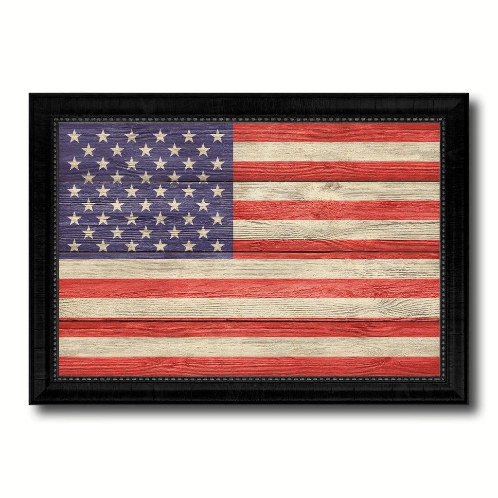 Usa Country Flag Texture Canvas Print Custom Frame Home Decor Wall Art Gift Picture Frame Decor Home Decor Wall Art Wall Art Gift
